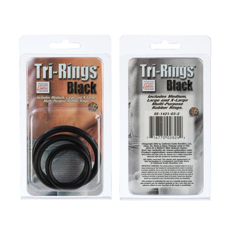 Tri-Rings Black Set