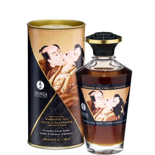 Shunga Erotic Art Aphrodisiac Warming Massage Oil Creamy Love Latte 3.5 Oz