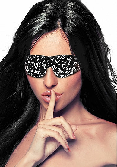 Love Street Art Fashion Printed Eye Mask
