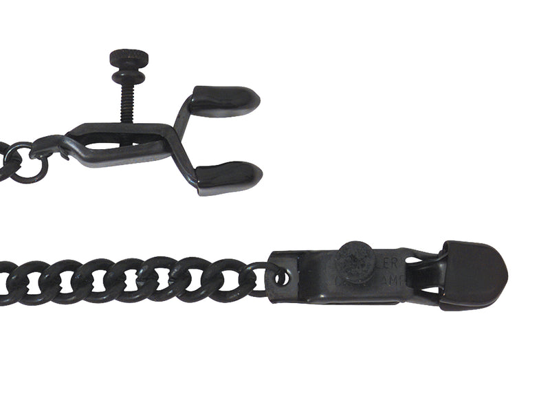 OPEN WIDE BLACKLINE CLAMP W/ LINK CHAIN