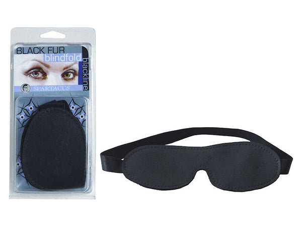 Blackline Black Blindfold with Black Fur
