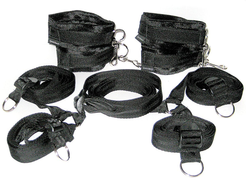 The original Sportsheet Bondage Under The Bed Restraint System