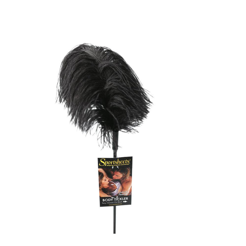 OSTRICH FEATHER BLACK