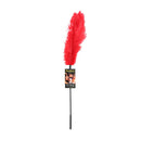 Ostrich Feather Tickler Red