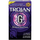 Trojan Premium Latex Condoms G-Spot 10 Count Package