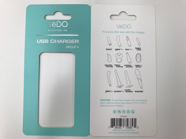 VEDO USB CHARGER A (BAM GEE PLUS LUVPLUS BAM MINI SPUNK FRISKY CRAZZY OVERDRIVE)