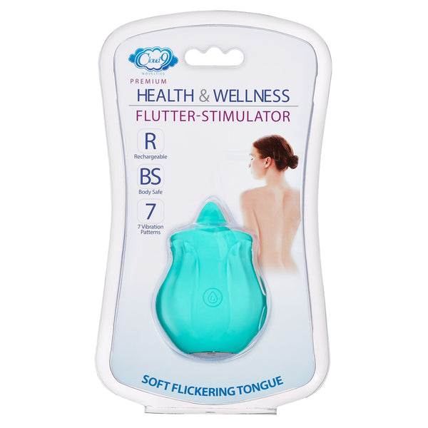 Cloud 9 Health and Wellness Flutter Oral Tongue Stimulator Teal