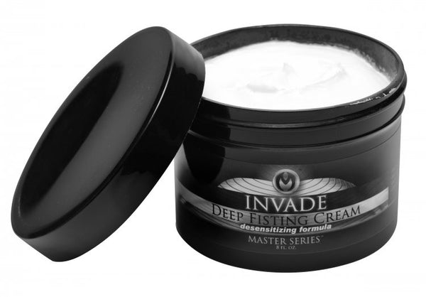 Invade Deep Fisting Cream Desensitizing Formula 8 Oz Jar