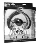 Hinder Breathable Ball Gag and Nipple Clamps