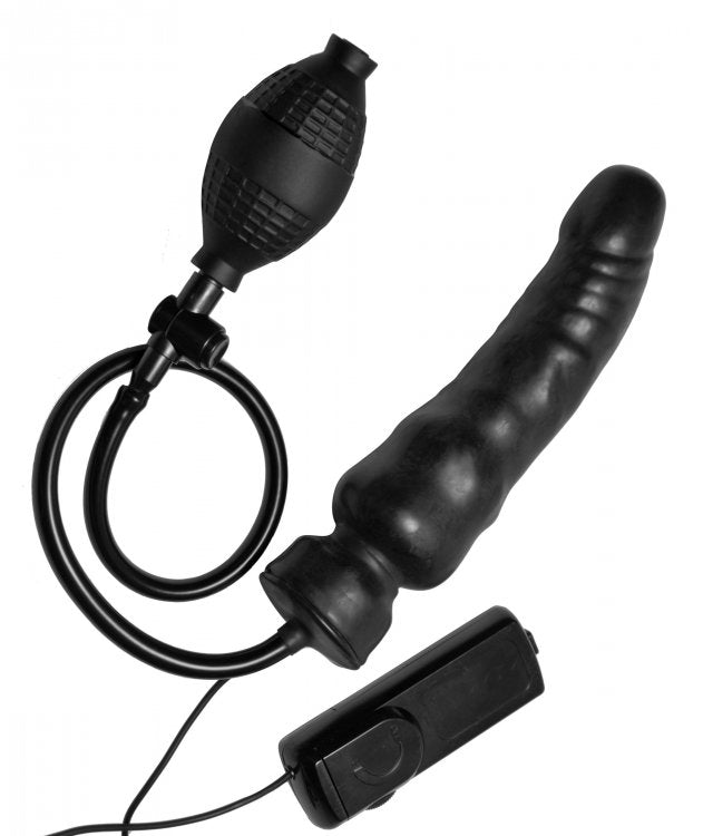 MASTER SERIES RAVAGE VIBRATING INFLATABLE PENIS