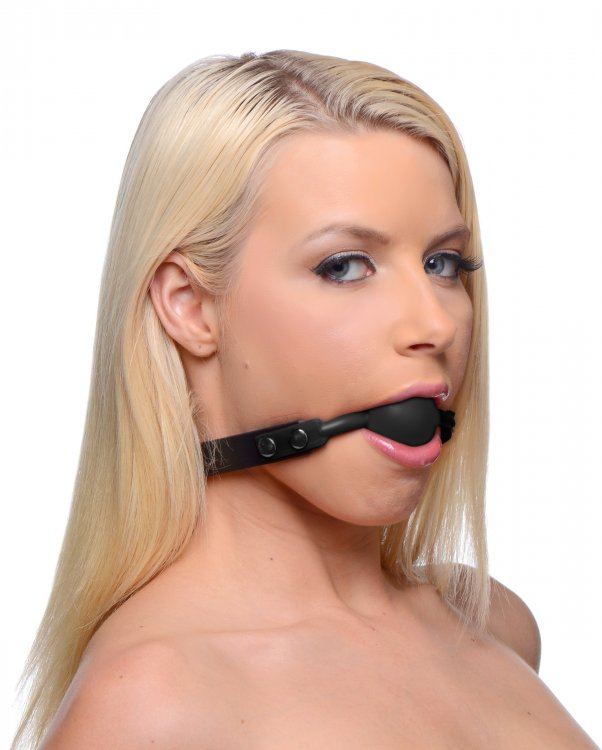 MASTER SERIES HUSH LOCKING SILICONE BALL GAG