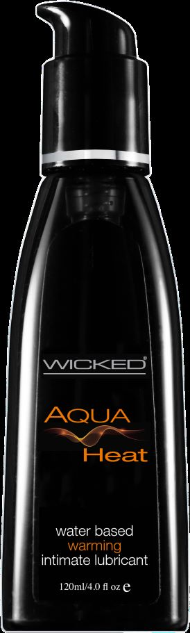 Wicked Aqua Heat 4 Oz Lubricant