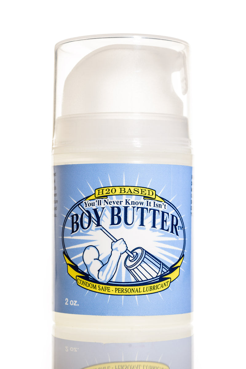 Boy Butter H2O Mini 2 Oz Pump Bottle Water Based Personal Lubricant