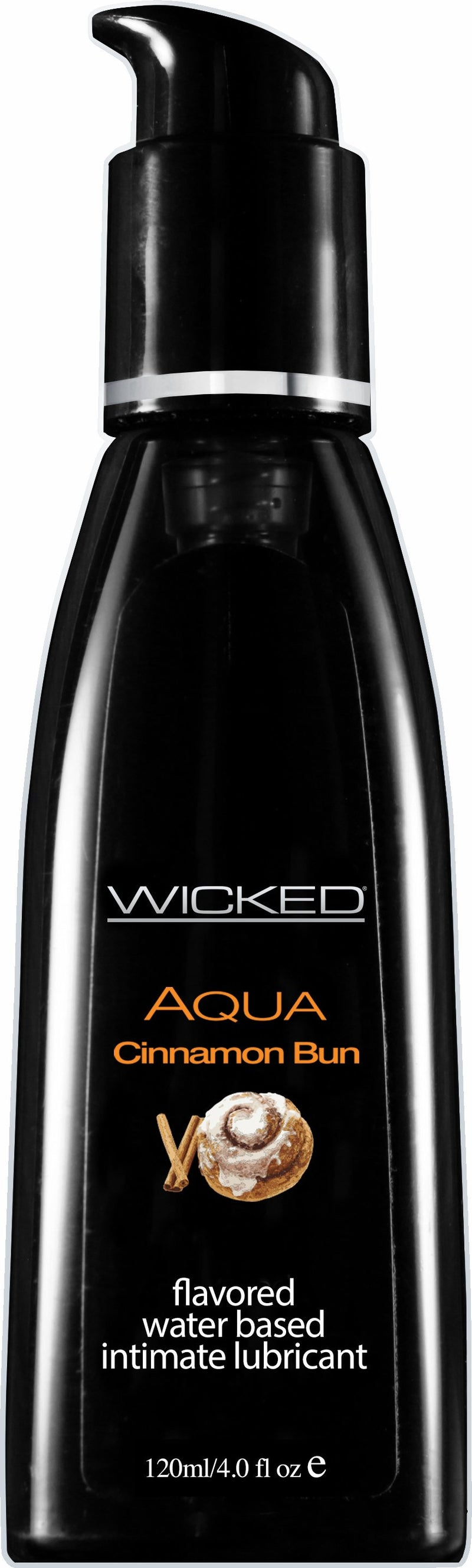 Wicked Aqua Cinnamon Bun 4 oz Flavored Water-Based Intimate Lubricant