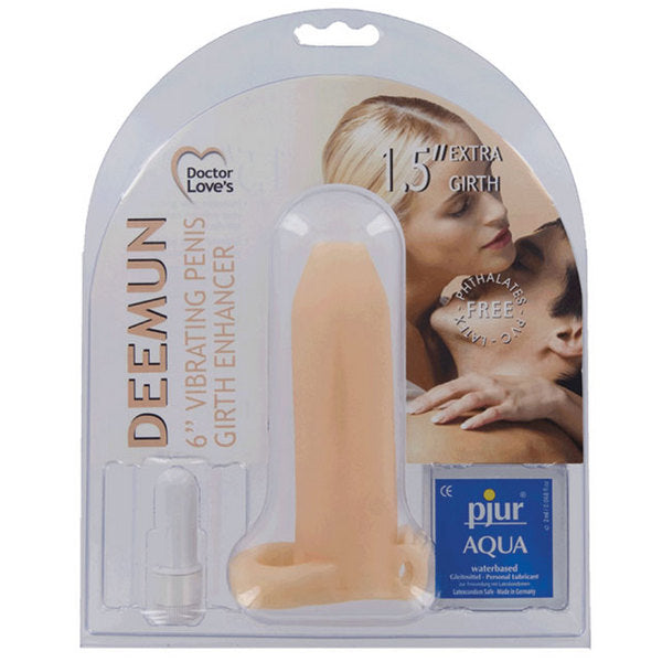 Doctor Love's Vibrating Deemun Extra Girth Enhancer 6 x 1.5