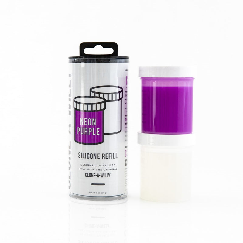 Clone-A-Willy Neon Purple Silicone Refill Kit