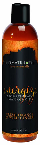 INTIMATE EARTH ENERGIZE MASSAGE OIL 4OZ