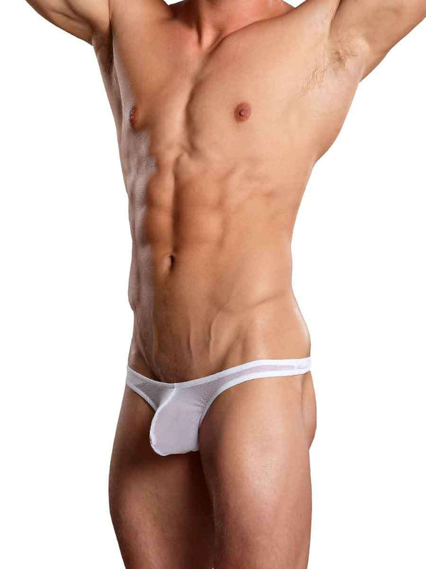 Euro Male Mesh Thong White Large/Extra Large from Male Power Underwear