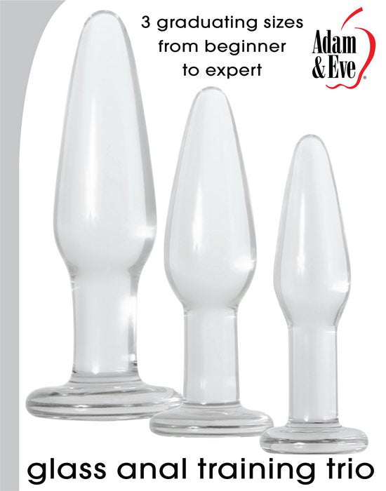 Adam and Eve Glass Anal Training Trio from Evolved Novelties