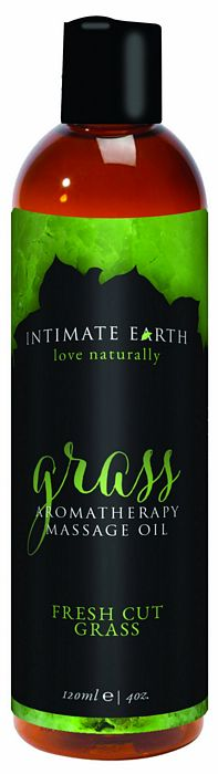 INTIMATE EARTH GRASS MASSAGE OIL 4OZ