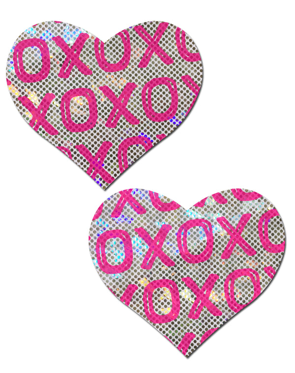 Pastease Shattered Glass Disco Ball Pink with White XO Heart
