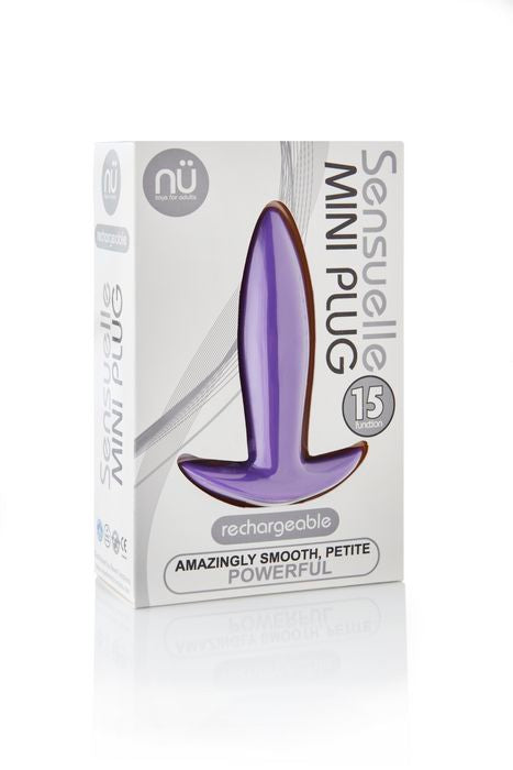 NU Sensuelle Mini Plug 15-Function Rechargeable Vibrating Butt Plug Purple