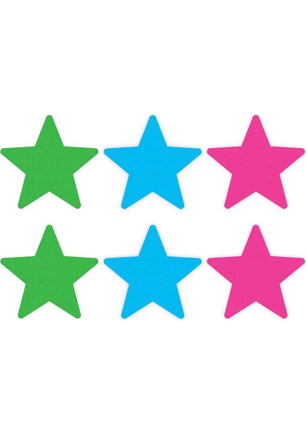 Peek A Boo Neon Star Pasties 3 Pack