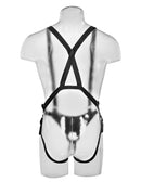 King Cock 10 inches Hollow Strap On Suspender System Beige Real Deal RD