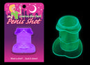 Glow In The Dark Penis Shot Glass Purple
