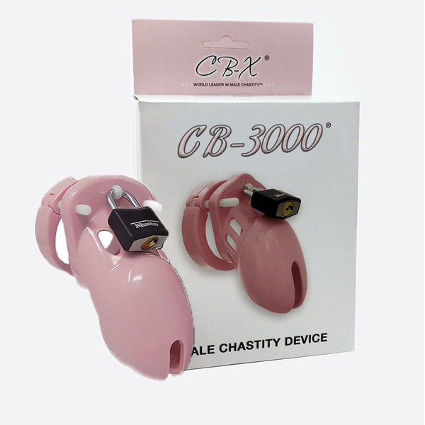 CB-3000 Male Chastity Device Solid Pink 3.25 inches