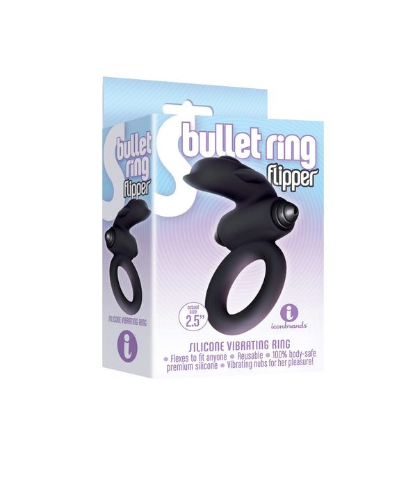 9'S S-BULLET RING FLIPPER SILICONE