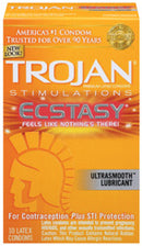 TROJAN ULTRA RIBBED ECSTASY 10 PACK