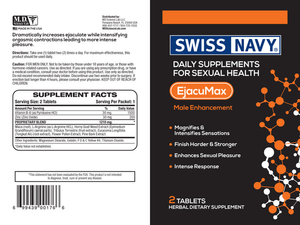 Swiss Navy Ejacu Max For Him 2 Count Capsules