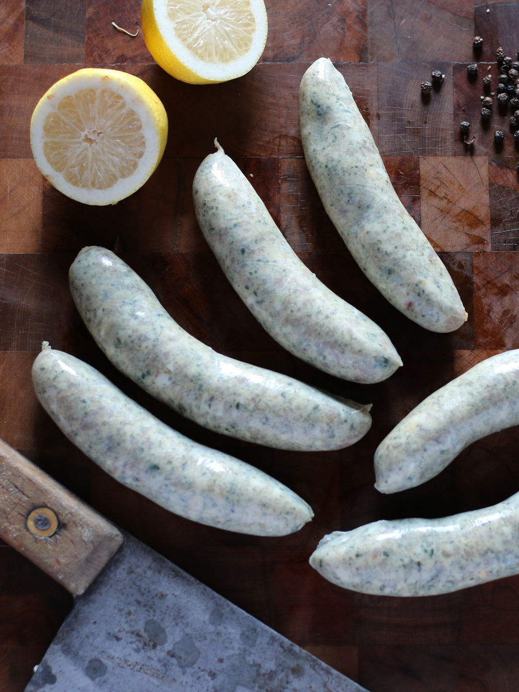 Chicken, Spinach and Pine Nut Sausages