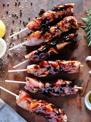 Honey Soy Chicken Kebabs