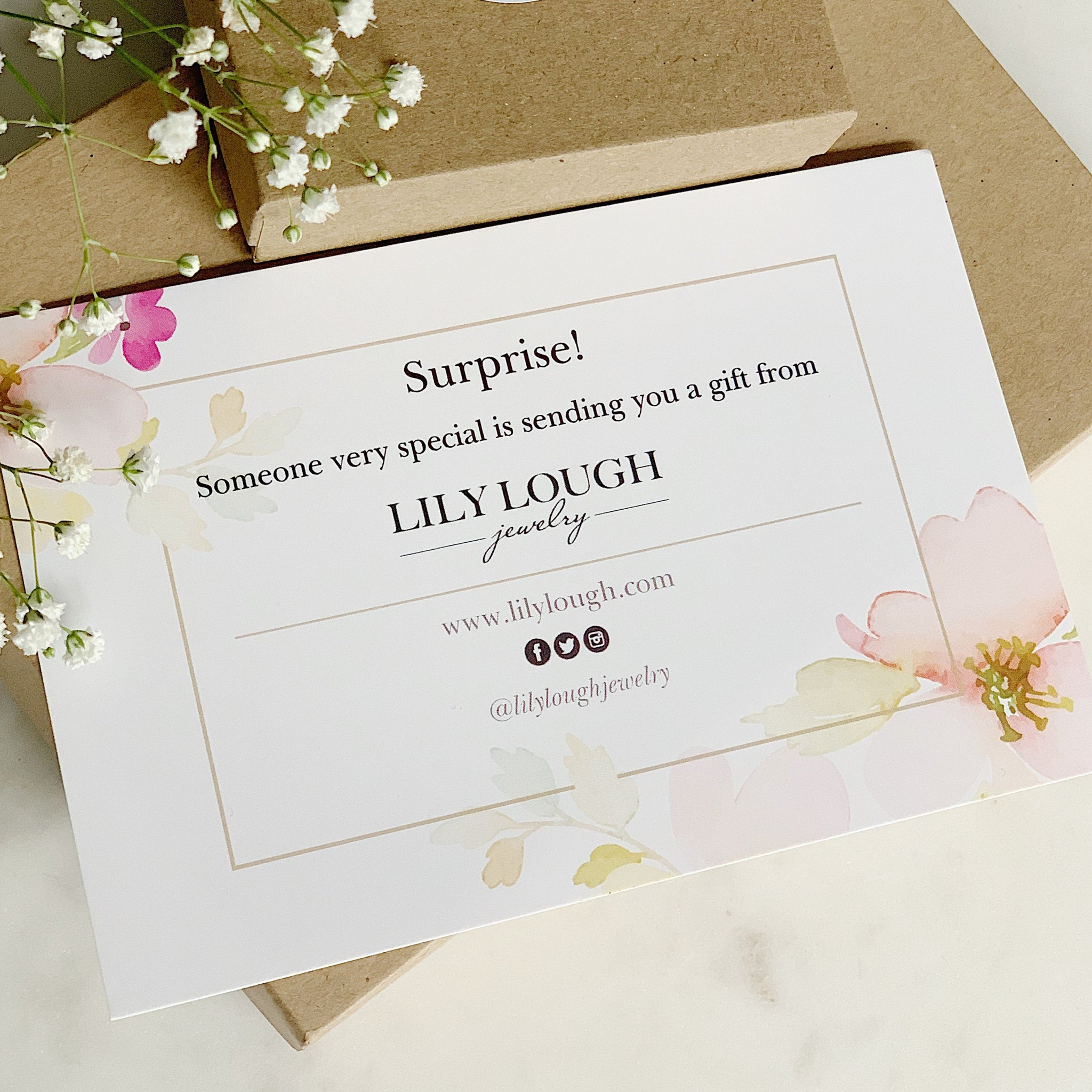 """Surprise"" card - Lily Lough Jewelry"