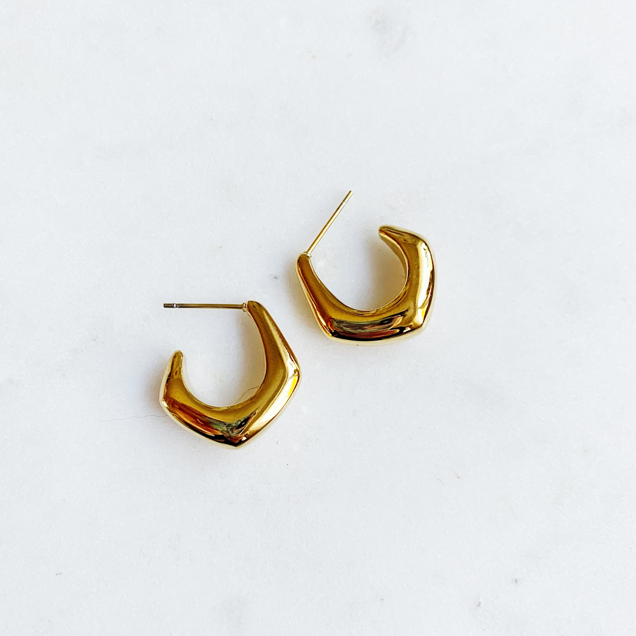 Geometric hoop earrings - Lily Lough Jewelry