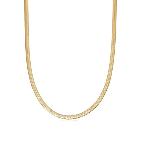 Herringbone chain necklace 7mm - Lily Lough Jewelry