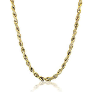 Twisted rope chain necklace - Lily Lough Jewelry