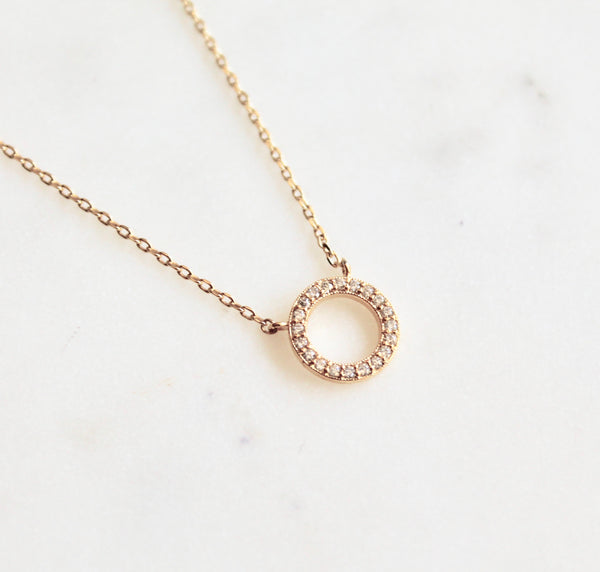 Karma circle necklace - Lily Lough Jewelry