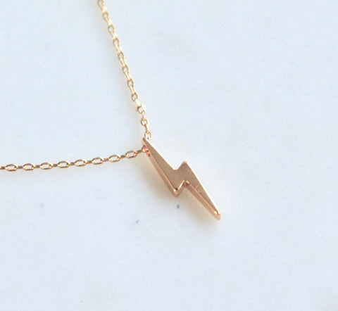 Lightening bolt necklace - Lily Lough Jewelry