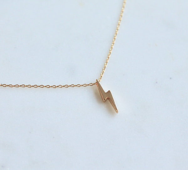 Lightning bolt necklace - Lily Lough Jewelry