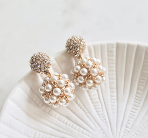 Alexandra pearl earrings - Lily Lough Jewelry