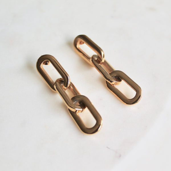 Hailey link earrings - Lily Lough Jewelry