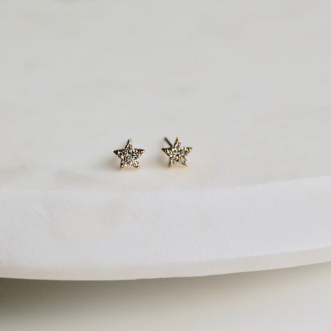 Tiny stars studs - Lily Lough Jewelry