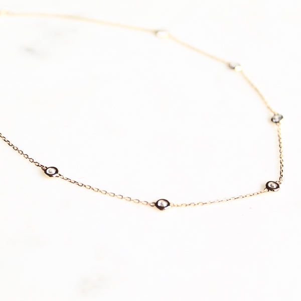 Bezel stones choker necklace - Lily Lough Jewelry