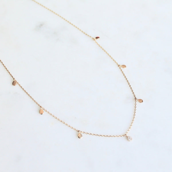 Teardrop dainty necklace - Lily Lough Jewelry
