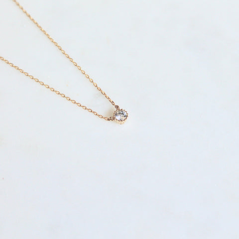 Dainty crystal necklace - Lily Lough Jewelry