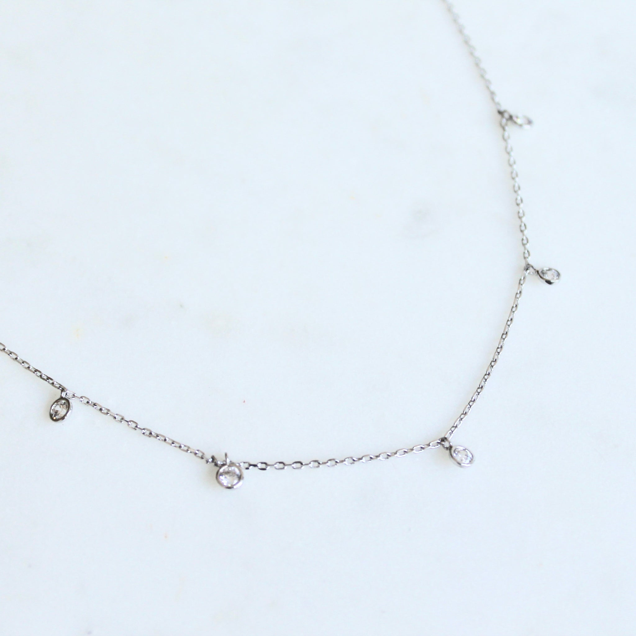 Crystal drop dainty necklace - Lily Lough Jewelry
