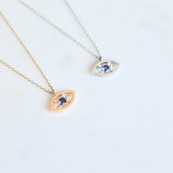Evil eye dainty necklace - Lily Lough Jewelry